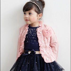 NWT GIRLS 3pc Lace tutu skirt set